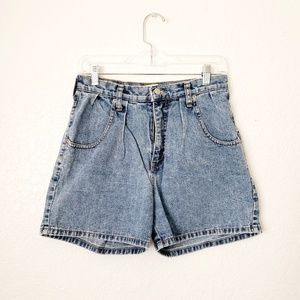 90s Vintage High Rise Pleated Distressed Shorts